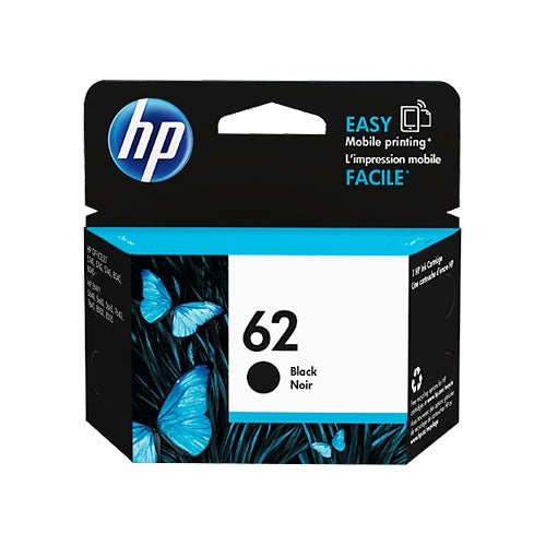 HP 62 Black Original Ink Cartridge (C2P04AN) (Single Pack)