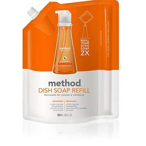 Method 01165 Dish Pump Refill, Clementine, 36 Oz