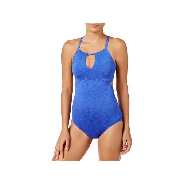 e0884632f396e Shop Nike Womens High-Neck Halter One-Piece Swimsuit - Free Shipping On  Orders Over  45 - Overstock - 22165514