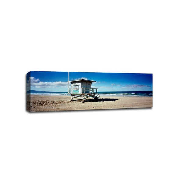 8th St Life Guard Station Manhattan Beach - Beaches - 48x16 Canvas