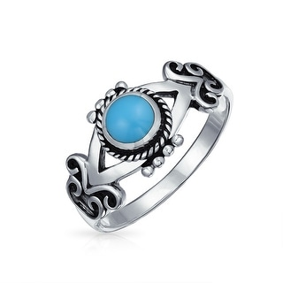 Bling Jewelry 925 Sterling Silver Flower Toe Ring Reconstituted Turquoise Y0t5wh