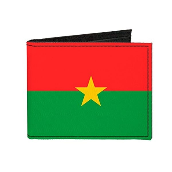 Buckle-Down Canvas Bi-fold Wallet - Burkina Faso Flag Accessory