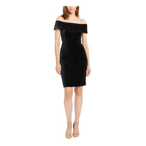 CALVIN KLEIN Black Short Sleeve Short Dress 2