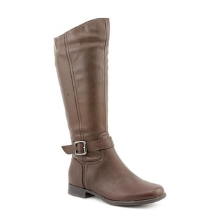 Hush Puppies Bikita Women Round Toe Synthetic Brown Mid Calf Boot