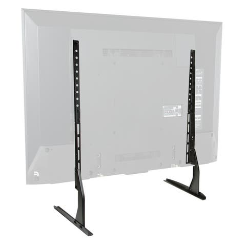 "Modern Tabletop TV Stand - Universal Base Replacement - 24-65"" Screens - Black"