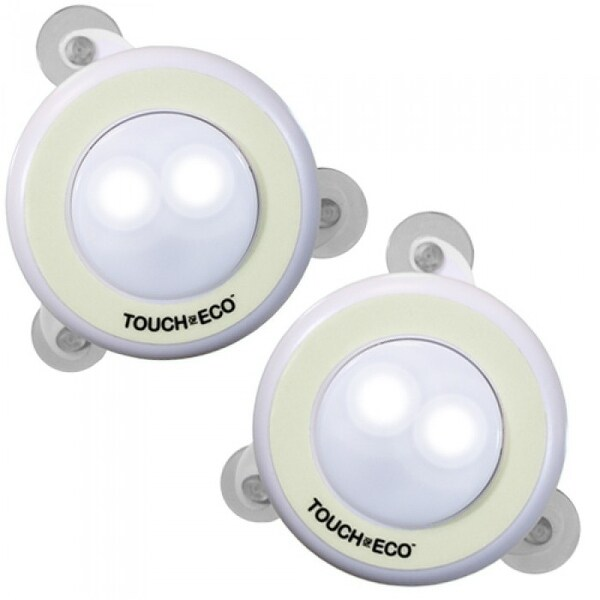 LITEOWL Solar Night Light (2 Pack) Suction Cup Tap Light