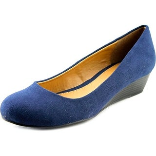 Chinese Laundry Marcie Women Open Toe Synthetic Blue Wedge Heel