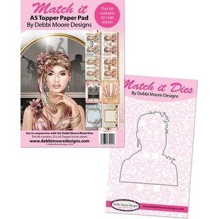 Debbie Moore Match It Art Deco Metal Die & A5 Pad-Grace