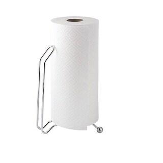 InterDesign 35402 Aria Paper Towel Holder Stand, Chrome