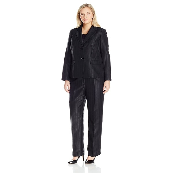 e349f06809c3b Shop Le Suit Plus Size Two-Button Striped 3pc Cami Jacket Pant Suit ...