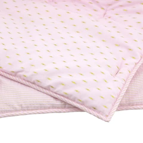 Just Born Baby Nursery Sparkle Rail Crib Cover, Pink - One Size