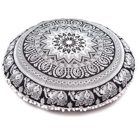 Black & White Throw Decorative Floor Pillow Cushion Cover