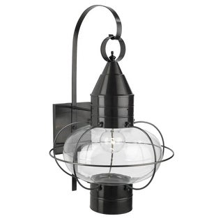 """Norwell Lighting 1509 Classic Onion Single Light 24"""" Tall Outdoor Wall Sconce with Glass Shade"""