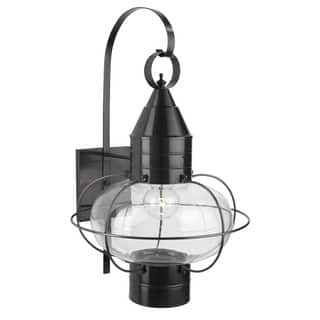 Hardwired norwell lighting outdoor lighting for less overstock norwell lighting 1509 classic onion single light 24 tall outdoor wall sconce with glass shade aloadofball Image collections