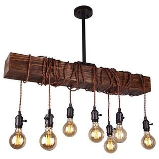 Wood Beam Kitchen Island Lighting
