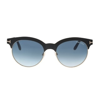 Link to Tom Ford FT0438 5305P ANGELA Black/Gold Round Sunglasses - 53-18-135 Similar Items in Women's Sunglasses