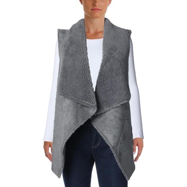 Velvet Womens Analucia Vest Faux Suede Faux Fur Lined