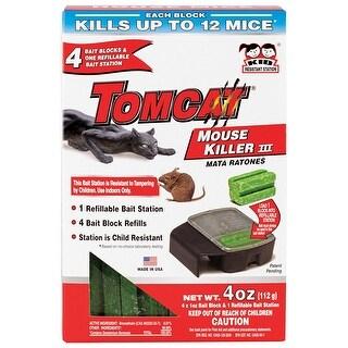 Tomcat 0371110 Refillable T3 Mouse Bait Station, 4 Bait Blocks