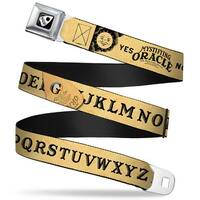 Ouija Planchette Full Color Black White Ouija Board Elements4 Natural Black Seatbelt Belt