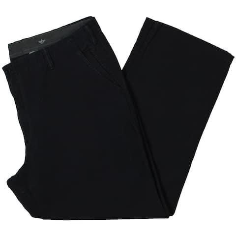 Dockers Mens Big & Tall Downtime Khaki Pants Smart 30 Flex Classic Fit - Navy