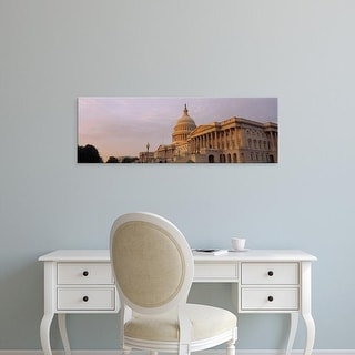 Easy Art Prints Panoramic Image 'View of a government building, Capitol Building, Washington DC, USA' Canvas Art