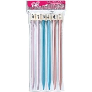 """Silvalume Single Point Knitting Needles 10"""" Gift Set-Sizes 11 To 15"""