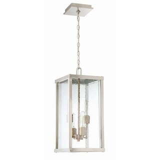 "Craftmade Z9921 Farnsworth 23"" 4 Light Pendant with Textured Glass"