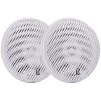 "Poly-Planar MA8505W 5"" Three-Way Titanium Series Marine Speakers - White"