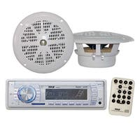 Marine AM/FM-MPX PLL Tuning Radio w/SD/MMC & USB With Two 4'' Speakers