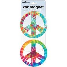 Peace Signs - Tie Dye - Car Magnet