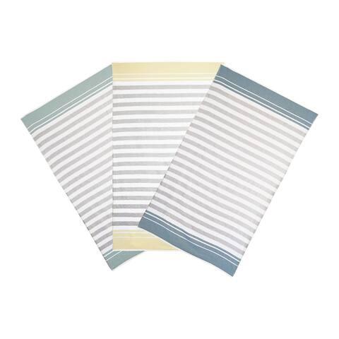 Vera Wang Awning Stripe 2 Piece Cotton Beach Towel Set