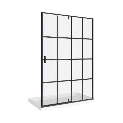 """A and E Bath and Shower Taylor-60 75"""" High x 60"""" Wide x 32"""" Deep - Black"""