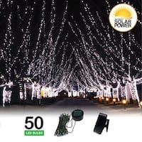 LITEUP50 Solar Clip On String Lights 50 Count Holiday Or Party Lights