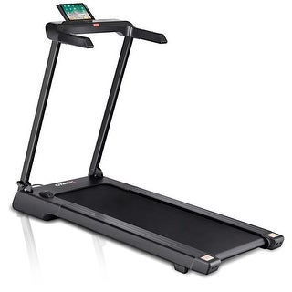 Gymax Folding Electric Treadmill 2.25Hp LED Display APP Free Installation Running - Black