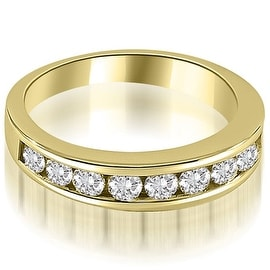 1.10 cttw. 14K Yellow Gold Classic Channel Set Round Cut Diamond Wedding Ring