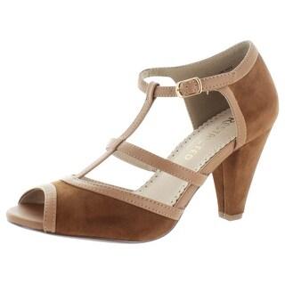 Restricted Doreen Women's T-Strap Peep Toe Pump Sandals