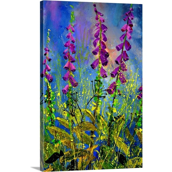 """Foxgloves"" Canvas Wall Art"