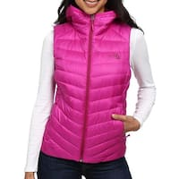 The North Face Pink Womens Size Small S Tonnero Hooded Vest Jacket
