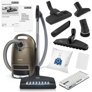 Link to Miele Complete C3 Brilliant Canister HEPA Vacuum Cleaner + SEB-236 Powerhead + XL Parquet Floor Brush + Combination Floor Brush Similar Items in Vacuums & Floor Care