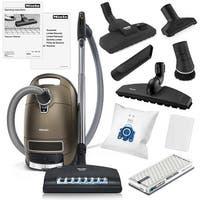 Miele Complete C3 Brilliant Canister HEPA Vacuum Cleaner + SEB-236 Powerhead + XL Parquet Floor Brush + Combination Floor Brush