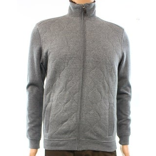 Tasso Elba NEW Gray Mens Size Small S Quilted Knit Full Zip Jacket