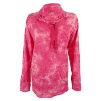 Style & Co. Women's Long Sleeves Tie Dye Sweatshirt - strawberry pop - m