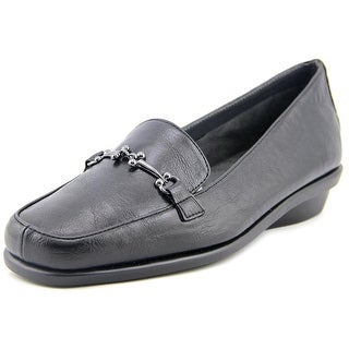 A2 By Aerosoles Elaborate Women  Round Toe Leather Black Loafer