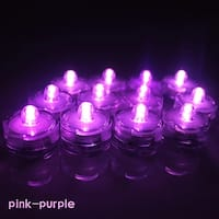 Image 12x Flameless LED Tea Light Submersible Waterproof Light Candles Battery-powered Pink-purple