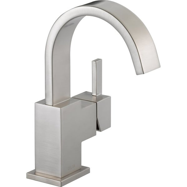 Delta 553LF Vero Single Hole Bathroom Faucet With Pop Up Drain Assembly    Includes Lifetime