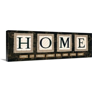 """Home"" Canvas Wall Art"