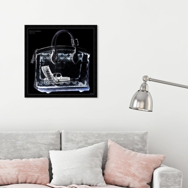 Oliver Gal 'Couture X Ray' Fashion and Glam Framed Wall Art Prints Handbags - Black, White. Opens flyout.
