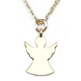 "Julieta Jewelry Angel Gold Charm 16"" Necklace"