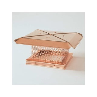 """Gelco 13603 8"""" x 13"""" Copper Single-Flue Chimney Cap with 3/4"""" Mesh"""
