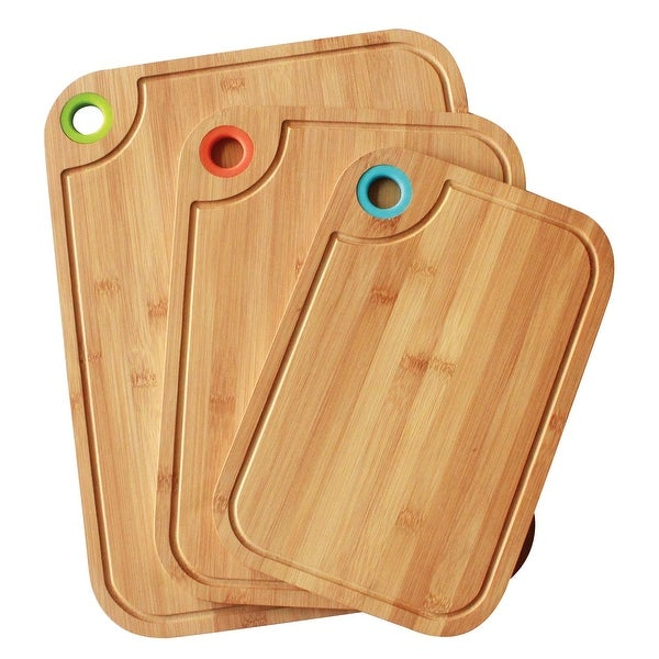 Shop Culinary Edge 50104 3 Piece Bamboo Cutting Board Set With